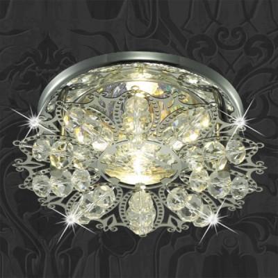 Светильник Novotech 369496 хром AuroraХрустальные<br><br><br>S освещ. до, м2: 3<br>Тип товара: Встраиваемый светильник<br>Тип лампы: галогенная<br>Тип цоколя: GU5.3 (MR16)<br>Количество ламп: 1<br>MAX мощность ламп, Вт: 50<br>Диаметр, мм мм: 105<br>Диаметр врезного отверстия, мм: 60<br>Высота, мм: 65<br>Оттенок (цвет): прозрачный<br>Цвет арматуры: серебристый