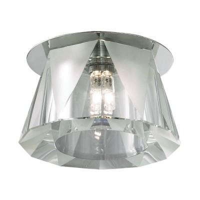 Novotech VETRO 369519 Встраиваемый светильникКруглые встраиваемые светильники<br>Встраиваемые светильники – популярное осветительное оборудование, которое можно использовать в качестве основного источника или в дополнение к люстре. Они позволяют создать нужную атмосферу атмосферу и привнести в интерьер уют и комфорт.   Интернет-магазин «Светодом» предлагает стильный встраиваемый светильник Novotech 369519. Данная модель достаточно универсальна, поэтому подойдет практически под любой интерьер. Перед покупкой не забудьте ознакомиться с техническими параметрами, чтобы узнать тип цоколя, площадь освещения и другие важные характеристики.   Приобрести встраиваемый светильник Novotech 369519 в нашем онлайн-магазине Вы можете либо с помощью «Корзины», либо по контактным номерам. Мы развозим заказы по Москве, Екатеринбургу и остальным российским городам.<br><br>S освещ. до, м2: 2<br>Тип лампы: галогенная<br>Тип цоколя: G9<br>Цвет арматуры: серебристый<br>Количество ламп: 1<br>Диаметр, мм мм: 85<br>Диаметр врезного отверстия, мм: 55<br>Высота, мм: 90<br>Оттенок (цвет): прозрачный<br>MAX мощность ламп, Вт: 40