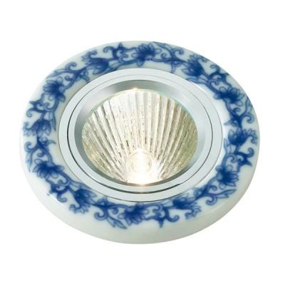 Novotech GZHEL 369521 Встраиваемый светильникКруглые<br>Встраиваемые светильники – популярное осветительное оборудование, которое можно использовать в качестве основного источника или в дополнение к люстре. Они позволяют создать нужную атмосферу атмосферу и привнести в интерьер уют и комфорт.   Интернет-магазин «Светодом» предлагает стильный встраиваемый светильник Novotech 369521. Данная модель достаточно универсальна, поэтому подойдет практически под любой интерьер. Перед покупкой не забудьте ознакомиться с техническими параметрами, чтобы узнать тип цоколя, площадь освещения и другие важные характеристики.   Приобрести встраиваемый светильник Novotech 369521 в нашем онлайн-магазине Вы можете либо с помощью «Корзины», либо по контактным номерам. Мы развозим заказы по Москве, Екатеринбургу и остальным российским городам.<br><br>S освещ. до, м2: 3<br>Тип лампы: галогенная<br>Тип цоколя: GU5.3 (MR16)<br>Количество ламп: 1<br>MAX мощность ламп, Вт: 50<br>Диаметр, мм мм: 90<br>Диаметр врезного отверстия, мм: 70<br>Высота, мм: 30<br>Оттенок (цвет): белый<br>Цвет арматуры: серебристый