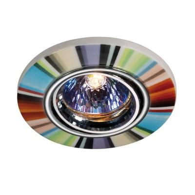 Novotech CERAMIC 369552 Встраиваемый светильникКруглые встраиваемые светильники<br>Декоративный встраиваемый поворотный светильник модели Novotech 369552 из серии CERAMIC отличается следующим качеством: Основание светильника – алюминиевое литьё. Это сплав, основными  достоинствами которого являются — устойчивость к практически всем видам негативного воздействия окружающей среды, коррозии, небольшой вес, по сравнению с другими видами металла и   экологическая безопасность материала. Декоративный плафон сделан из керамики. Этот материал отличает изящество форм, различные приемы передачи тончайших линий и деталей. Они ассоциируется с элегантностью, красотой и гармонией. Это широко распространенный и очень древний вид народного художественного ремесла, использующего легко доступный природный материал – глину. Глина добывается из верхних слоёв земли, а значит экологически чистый материал с мощнейшей земной энергетикой.<br><br>S освещ. до, м2: 3<br>Тип лампы: галогенная<br>Тип цоколя: GU5.3 (MR16)<br>Цвет арматуры: серебристый<br>Количество ламп: 1<br>Диаметр, мм мм: 97<br>Диаметр врезного отверстия, мм: 65<br>Высота, мм: 45<br>Оттенок (цвет): цветной<br>MAX мощность ламп, Вт: 50