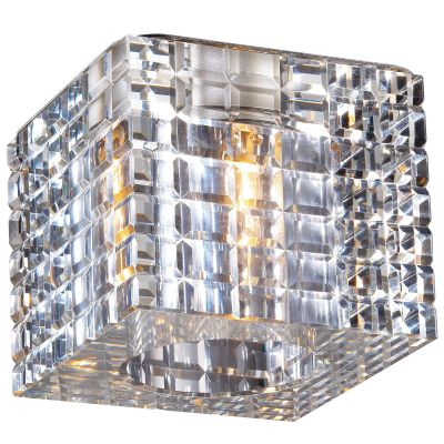 Novotech CUBIC 369600 Встраиваемый светильникКвадратные<br>Декоративный встраиваемый светильник модели Novotech 369600 из серии CUBIC отличается следующим качеством: Основание светильника сделано из нержавеющей стали. Её главным преимуществом является  большой период эксплуатации.  Сталь по праву можно считать вечным материалом.  Так  же преимуществами являются устойчивость к химическим, атмосферным и механическим воздействиям и эстетичный внешний вид. Благодаря зеркальной полировке,  обеспечивается высокая стойкость металла к коррозии. Декоративный плафон произведён из хрусталя. Он обладает высоким показателем плотности, прозрачности и блеска. Благодаря содержанию свинца (не менее 30%) и определённому подбору углов, образуемых гранями, изделия из хрусталя отличаются необыкновенно яркой, многоцветной игрой света, чарующей магией красоты, совершенства и роскоши.<br><br>S освещ. до, м2: 2<br>Тип лампы: галогенная<br>Тип цоколя: G9<br>Ширина, мм: 70<br>MAX мощность ламп, Вт: 40<br>Диаметр врезного отверстия, мм: 60<br>Длина, мм: 70<br>Расстояние от стены, мм: 60<br>Высота, мм: 85<br>Цвет арматуры: серебристый