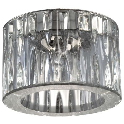 Novotech VETRO 369602 Встраиваемый светильникКруглые<br>Декоративный встраиваемый светильник модели Novotech 369602 из серии VETRO отличается следующим качеством: Основание светильника сделано из нержавеющей стали. Её главным преимуществом является  большой период эксплуатации.  Сталь по праву можно считать вечным материалом.  Так  же преимуществами являются устойчивость к химическим, атмосферным и механическим воздействиям и эстетичный внешний вид. Благодаря зеркальной полировке,  обеспечивается высокая стойкость металла к коррозии. Декоративный плафон произведён из хрусталя. Он обладает высоким показателем плотности, прозрачности и блеска. Благодаря содержанию свинца (не менее 30%) и определённому подбору углов, образуемых гранями, изделия из хрусталя отличаются необыкновенно яркой, многоцветной игрой света, чарующей магией красоты, совершенства и роскоши.<br><br>S освещ. до, м2: 2<br>Тип лампы: галогенная<br>Тип цоколя: G9<br>MAX мощность ламп, Вт: 40<br>Диаметр, мм мм: 80<br>Диаметр врезного отверстия, мм: 60<br>Расстояние от стены, мм: 50<br>Высота, мм: 75<br>Цвет арматуры: серебристый
