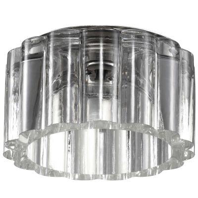 Novotech VETRO 369603 Встраиваемый светильникКруглые<br>Декоративный встраиваемый светильник модели Novotech 369603 из серии VETRO отличается следующим качеством: Основание светильника сделано из нержавеющей стали. Её главным преимуществом является  большой период эксплуатации.  Сталь по праву можно считать вечным материалом.  Так  же преимуществами являются устойчивость к химическим, атмосферным и механическим воздействиям и эстетичный внешний вид. Благодаря зеркальной полировке,  обеспечивается высокая стойкость металла к коррозии. Декоративный плафон произведён из хрусталя. Он обладает высоким показателем плотности, прозрачности и блеска. Благодаря содержанию свинца (не менее 30%) и определённому подбору углов, образуемых гранями, изделия из хрусталя отличаются необыкновенно яркой, многоцветной игрой света, чарующей магией красоты, совершенства и роскоши.<br><br>S освещ. до, м2: 2<br>Тип товара: Встраиваемый светильник<br>Тип лампы: галогенная<br>Тип цоколя: G9<br>MAX мощность ламп, Вт: 40<br>Диаметр, мм мм: 90<br>Диаметр врезного отверстия, мм: 60<br>Расстояние от стены, мм: 40<br>Высота, мм: 65<br>Цвет арматуры: серебристый
