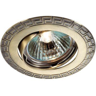 Novotech COIL 369615 Точечный встраиваемый светильникКруглые<br>Встраиваемый поворотный светильник модели Novotech 369615 из серии COIL отличается следующим качеством: Светильник сделан из алюминиевого литья. Это сплав, основными  достоинствами которого являются — устойчивость к практически всем видам негативного воздействия окружающей среды, коррозии, небольшой вес, по сравнению с другими видами металла и   экологическая безопасность материала.<br><br>S освещ. до, м2: 2<br>Тип лампы: галогенная<br>Тип цоколя: GU5.3 (MR16)<br>MAX мощность ламп, Вт: 50<br>Диаметр, мм мм: 90<br>Диаметр врезного отверстия, мм: 82<br>Расстояние от стены, мм: 5<br>Высота, мм: 25<br>Цвет арматуры: бронзовый