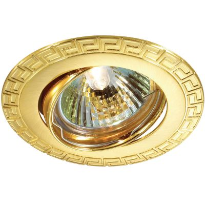 Novotech COIL 369619 Точечный встраиваемый светильникТочечные светильники круглые<br>Встраиваемый поворотный светильник модели Novotech 369619 из серии COIL отличается следующим качеством: Светильник сделан из алюминиевого литья. Это сплав, основными  достоинствами которого являются — устойчивость к практически всем видам негативного воздействия окружающей среды, коррозии, небольшой вес, по сравнению с другими видами металла и   экологическая безопасность материала.<br><br>S освещ. до, м2: 2<br>Тип лампы: галогенная<br>Тип цоколя: GU5.3 (MR16)<br>Цвет арматуры: Золотой<br>Диаметр, мм мм: 90<br>Диаметр врезного отверстия, мм: 82<br>Расстояние от стены, мм: 5<br>Высота, мм: 25<br>MAX мощность ламп, Вт: 50