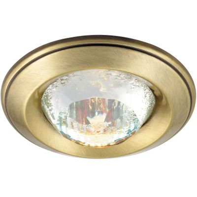 Novotech GLAM 369649 Точечный встраиваемый светильникКруглые<br>Декоративный встраиваемый неповоротный светильник модели Novotech 369649 из серии GLAM отличается следующим качеством: Светильник сделан из алюминиевого литья. Это сплав, основными  достоинствами которого являются — устойчивость к практически всем видам негативного воздействия окружающей среды, коррозии, небольшой вес, по сравнению с другими видами металла и   экологическая безопасность материала. Декоративный плафон произведён из хрусталя. Он обладает высоким показателем плотности, прозрачности и блеска. Благодаря содержанию свинца (не менее 30%) и определённому подбору углов, образуемых гранями, изделия из хрусталя отличаются необыкновенно яркой, многоцветной игрой света, чарующей магией красоты, совершенства и роскоши.<br><br>S освещ. до, м2: 2<br>Тип лампы: галогенная<br>Тип цоколя: GU5.3 (MR16)<br>MAX мощность ламп, Вт: 50<br>Диаметр, мм мм: 80<br>Диаметр врезного отверстия, мм: 65<br>Расстояние от стены, мм: 20<br>Высота, мм: 40<br>Цвет арматуры: бронзовый
