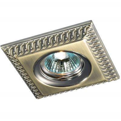 Novotech WIND 369655 Точечный встраиваемый светильникКвадратные<br>Встраиваемый неповоротный светильник модели Novotech 369655 из серии WIND отличается следующим качеством: Светильник сделан из алюминиевого литья. Это сплав, основными  достоинствами которого являются — устойчивость к практически всем видам негативного воздействия окружающей среды, коррозии, небольшой вес, по сравнению с другими видами металла и   экологическая безопасность материала.<br><br>S освещ. до, м2: 2<br>Тип лампы: галогенная<br>Тип цоколя: GU5.3 (MR16)<br>MAX мощность ламп, Вт: 50<br>Диаметр, мм мм: 110<br>Диаметр врезного отверстия, мм: 80<br>Расстояние от стены, мм: 15<br>Высота, мм: 30<br>Цвет арматуры: бронзовый