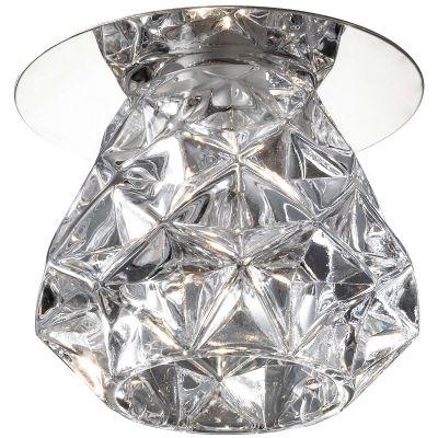 Novotech CRYSTAL 369673 Встраиваемый светильникКруглые<br>Декоративный встраиваемый светильник модели Novotech 369673 из серии CRYSTAL отличается следующим качеством: Основание светильника сделано из нержавеющей стали. Её главным преимуществом является  большой период эксплуатации.  Сталь по праву можно считать вечным материалом.  Так  же преимуществами являются устойчивость к химическим, атмосферным и механическим воздействиям и эстетичный внешний вид. Благодаря зеркальной полировке,  обеспечивается высокая стойкость металла к коррозии. Декоративный плафон произведён из хрусталя. Он обладает высоким показателем плотности, прозрачности и блеска. Благодаря содержанию свинца (не менее 30%) и определённому подбору углов, образуемых гранями, изделия из хрусталя отличаются необыкновенно яркой, многоцветной игрой света, чарующей магией красоты, совершенства и роскоши.<br><br>S освещ. до, м2: 2<br>Тип лампы: галогенная<br>Тип цоколя: G4<br>MAX мощность ламп, Вт: 20<br>Диаметр, мм мм: 75<br>Диаметр врезного отверстия, мм: 60<br>Расстояние от стены, мм: 60<br>Высота, мм: 85<br>Цвет арматуры: серебристый