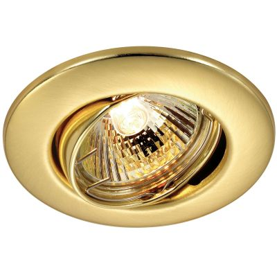 Novotech CLASSIC 369695 Точечный встраиваемый светильникКруглые<br>Встраиваемый поворотный светильник модели Novotech 369695 из серии CLASSIC отличается следующим качеством: Светильник сделан из металла. Это популярный и востребованный материал благодаря ряду качеств. К ним относится: повышенная прочность, износостойкость и долговечность. Любому интерьеру он придаст солидности и завершенности, поможет расставить акценты.<br><br>S освещ. до, м2: 2<br>Тип товара: Точечный встраиваемый светильник<br>Тип лампы: галогенная<br>Тип цоколя: GU5.3 (MR16)<br>MAX мощность ламп, Вт: 50<br>Диаметр, мм мм: 90<br>Диаметр врезного отверстия, мм: 70<br>Расстояние от стены, мм: 5<br>Высота, мм: 25<br>Цвет арматуры: Золотой