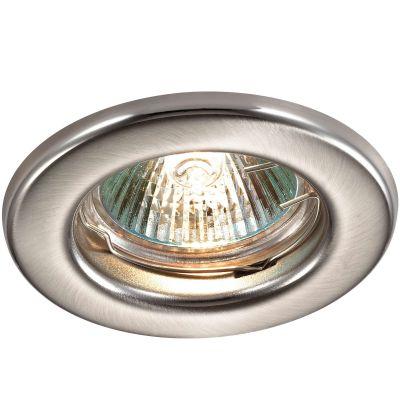 Novotech CLASSIC 369703 Точечный встраиваемый светильникТочечные светильники круглые<br>Встраиваемый неповоротный светильник модели Novotech 369703 из серии CLASSIC отличается следующим качеством: Светильник сделан из металла. Это популярный и востребованный материал благодаря ряду качеств. К ним относится: повышенная прочность, износостойкость и долговечность. Любому интерьеру он придадаст солидности и завершенности, поможет расставить акценты.<br><br>S освещ. до, м2: 2<br>Тип лампы: галогенная<br>Тип цоколя: GU5.3 (MR16)<br>Цвет арматуры: серебристый<br>Диаметр, мм мм: 82<br>Диаметр врезного отверстия, мм: 60<br>Расстояние от стены, мм: 5<br>Высота, мм: 35<br>MAX мощность ламп, Вт: 50