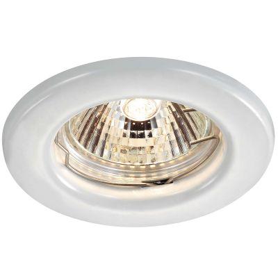 Novotech CLASSIC 369705 Точечный встраиваемый светильникКруглые<br>Встраиваемый неповоротный светильник модели Novotech 369705 из серии CLASSIC отличается следующим качеством: Светильник сделан из металла. Это популярный и востребованный материал благодаря ряду качеств. К ним относится: повышенная прочность, износостойкость и долговечность. Любому интерьеру он придадаст солидности и завершенности, поможет расставить акценты.<br><br>S освещ. до, м2: 2<br>Тип лампы: галогенная<br>Тип цоколя: GU5.3 (MR16)<br>MAX мощность ламп, Вт: 50<br>Диаметр, мм мм: 82<br>Диаметр врезного отверстия, мм: 60<br>Расстояние от стены, мм: 5<br>Высота, мм: 35<br>Цвет арматуры: белый