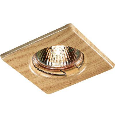 Novotech WOOD 369716 Точечный встраиваемый светильникКвадратные<br>Встраиваемый неповоротный светильник модели Novotech 369716 из серии WOOD отличается следующим качеством: Светильник сделан из металла. Это популярный и востребованный материал благодаря ряду качеств. К ним относится: повышенная прочность, износостойкость и долговечность. Любому интерьеру он придадаст солидности и завершенности, поможет расставить акценты.<br><br>S освещ. до, м2: 2<br>Тип лампы: галогенная<br>Тип цоколя: GU5.3 (MR16)<br>Ширина, мм: 80<br>MAX мощность ламп, Вт: 50<br>Диаметр врезного отверстия, мм: 60<br>Длина, мм: 80<br>Расстояние от стены, мм: 5<br>Высота, мм: 35<br>Цвет арматуры: деревянный
