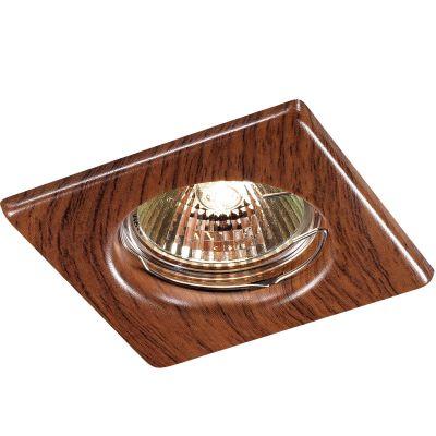 Novotech WOOD 369717 Точечный встраиваемый светильникКвадратные<br>Встраиваемый неповоротный светильник модели Novotech 369717 из серии WOOD отличается следующим качеством: Светильник сделан из металла. Это популярный и востребованный материал благодаря ряду качеств. К ним относится: повышенная прочность, износостойкость и долговечность. Любому интерьеру он придадаст солидности и завершенности, поможет расставить акценты.<br><br>S освещ. до, м2: 2<br>Тип лампы: галогенная<br>Тип цоколя: GU5.3 (MR16)<br>Ширина, мм: 80<br>MAX мощность ламп, Вт: 50<br>Диаметр врезного отверстия, мм: 60<br>Длина, мм: 80<br>Расстояние от стены, мм: 5<br>Высота, мм: 35<br>Цвет арматуры: деревянный
