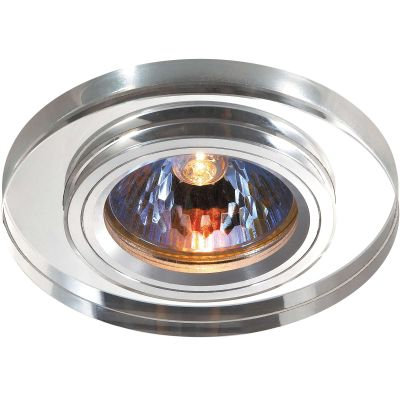 Novotech MIRROR 369756 Встраиваемый светильникКруглые<br>Декоративный встраиваемый светильник модели Novotech 369756 из серии MIRROR отличается следующим качеством: Основание светильника сделано из алюминия. Это лёгкий металл, основными  достоинствами которого являются — устойчивость к практически всем видам негативного воздействия окружающей среды, коррозии, небольшой вес, по сравнению с другими видами металла и   экологическая безопасность материала. Декоративный плафон произведен из хрусталя. Он обладает высоким показателем плотности, прозрачности и блеска. Благодаря содержанию свинца (не менее 30%) и определённому подбору углов, образуемых гранями, изделия из хрусталя отличаются необыкновенно яркой, многоцветной игрой света, чарующей магией красоты, совершенства и роскоши.<br><br>S освещ. до, м2: 2<br>Тип лампы: галогенная<br>Тип цоколя: GU5.3 (MR16)<br>Цвет арматуры: серебристый<br>Диаметр, мм мм: 85<br>Диаметр врезного отверстия, мм: 68<br>Расстояние от стены, мм: 10<br>Высота, мм: 25<br>Оттенок (цвет): зеркальный<br>MAX мощность ламп, Вт: 50