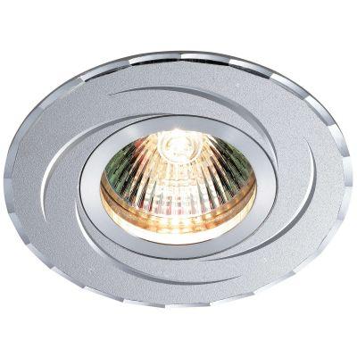 Novotech VOODOO 369768 Точечный встраиваемый светильникКруглые<br>Встраиваемый светильник модели Novotech 369768 из серии VOODOO отличается следующим качеством: Светильник произведен из алюминия. Это лёгкий металл, основными  достоинствами которого являются — устойчивость к практически всем видам негативного воздействия окружающей среды, коррозии, небольшой вес, по сравнению с другими видами металла и   экологическая безопасность материала.<br><br>S освещ. до, м2: 2<br>Тип лампы: галогенная<br>Тип цоколя: GU5.3 (MR16)<br>MAX мощность ламп, Вт: 50<br>Диаметр, мм мм: 95<br>Диаметр врезного отверстия, мм: 65<br>Расстояние от стены, мм: 2<br>Высота, мм: 20<br>Цвет арматуры: серебристый