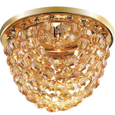 Novotech JINNI 369777 Встраиваемый светильникХрустальные<br>Декоративный встраиваемый светильник модели Novotech 369777 из серии JINNI отличается следующим качеством: Основание светильника сделано из металла. Это популярный и востребованный материал благодаря ряду качеств. К ним относится: повышенная прочность, износостойкость и долговечность. Подвески изготовлены из хрусталя.  Он обладает высоким показателем плотности, прозрачности и блеска. Благодаря содержанию свинца (не менее 30%) и определённому подбору углов, образуемых гранями, изделия из хрусталя отличаются необыкновенно яркой, многоцветной игрой света, чарующей магией красоты, совершенства и роскоши.  А так же, он обладают красивым звоном.<br><br>S освещ. до, м2: 2<br>Тип лампы: галогенная<br>Тип цоколя: GU5.3 (MR16)<br>MAX мощность ламп, Вт: 50<br>Диаметр, мм мм: 90<br>Диаметр врезного отверстия, мм: 70<br>Расстояние от стены, мм: 59<br>Высота, мм: 83<br>Цвет арматуры: Золотой