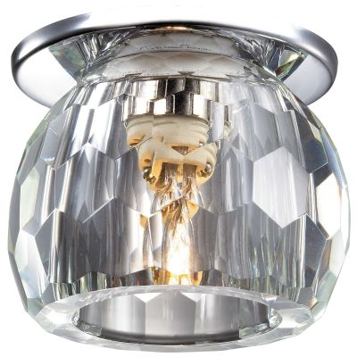 Novotech DEW 369799 Встраиваемый светильникХрустальные<br>Встраиваемые светильники – популярное осветительное оборудование, которое можно использовать в качестве основного источника или в дополнение к люстре. Они позволяют создать нужную атмосферу атмосферу и привнести в интерьер уют и комфорт.   Интернет-магазин «Светодом» предлагает стильный встраиваемый светильник Novotech 369799. Данная модель достаточно универсальна, поэтому подойдет практически под любой интерьер. Перед покупкой не забудьте ознакомиться с техническими параметрами, чтобы узнать тип цоколя, площадь освещения и другие важные характеристики.   Приобрести встраиваемый светильник Novotech 369799 в нашем онлайн-магазине Вы можете либо с помощью «Корзины», либо по контактным номерам. Мы развозим заказы по Москве, Екатеринбургу и остальным российским городам.<br><br>S освещ. до, м2: 2<br>Тип лампы: галогенная<br>Тип цоколя: G9<br>MAX мощность ламп, Вт: 40<br>Диаметр, мм мм: 75<br>Диаметр врезного отверстия, мм: 45<br>Расстояние от стены, мм: 60<br>Высота, мм: 85<br>Цвет арматуры: серебристый