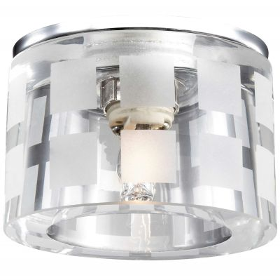 Novotech NORD 369808 Встраиваемый светильникКруглые<br>Декоративный встраиваемый светильник модели Novotech 369808 из серии NORD отличается следующим качеством: Основание светильника сделано из металла. Это популярный и востребованный материал благодаря ряду качеств. К ним относится: повышенная прочность, износостойкость и долговечность. Декоративный плафон произведен из хрусталя. Он обладает высоким показателем плотности, прозрачности и блеска. Благодаря содержанию свинца (не менее 30%) и определённому подбору углов, образуемых гранями, изделия из хрусталя отличаются необыкновенно яркой, многоцветной игрой света, чарующей магией красоты, совершенства и роскоши.<br><br>S освещ. до, м2: 2<br>Тип лампы: галогенная<br>Тип цоколя: G9<br>MAX мощность ламп, Вт: 40<br>Диаметр, мм мм: 80<br>Диаметр врезного отверстия, мм: 45<br>Расстояние от стены, мм: 55<br>Высота, мм: 80<br>Цвет арматуры: серебристый