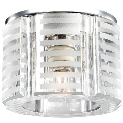 Novotech NORD 369809 Встраиваемый светильникКруглые<br>Декоративный встраиваемый светильник модели Novotech 369809 из серии NORD отличается следующим качеством: Основание светильника сделано из металла. Это популярный и востребованный материал благодаря ряду качеств. К ним относится: повышенная прочность, износостойкость и долговечность. Декоративный плафон произведен из хрусталя. Он обладает высоким показателем плотности, прозрачности и блеска. Благодаря содержанию свинца (не менее 30%) и определённому подбору углов, образуемых гранями, изделия из хрусталя отличаются необыкновенно яркой, многоцветной игрой света, чарующей магией красоты, совершенства и роскоши.<br><br>S освещ. до, м2: 2<br>Тип лампы: галогенная<br>Тип цоколя: G9<br>MAX мощность ламп, Вт: 40<br>Диаметр, мм мм: 80<br>Диаметр врезного отверстия, мм: 45<br>Расстояние от стены, мм: 65<br>Высота, мм: 90<br>Цвет арматуры: серебристый