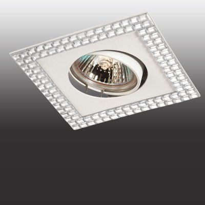 Светильник Novotech 369837Декоративные<br><br><br>Тип товара: Точечный встраиваемый светильник<br>Тип лампы: галогенная<br>Тип цоколя: GU5.3 (MR16)<br>Ширина, мм: 103<br>MAX мощность ламп, Вт: 50<br>Диаметр врезного отверстия, мм: 70<br>Длина, мм: 103<br>Высота, мм: 26<br>Оттенок (цвет): зеркальный<br>Цвет арматуры: белый