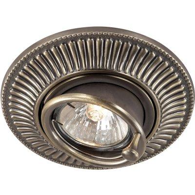 Novotech VINTAGE 369858 Точечный встраиваемый светильникКруглые<br>Декоративный встраиваемый светильник модели Novotech 369858 из серии VINTAGE отличается следующим качеством: Светильник произведен из сплава цинка. Благодаря сравнительно высоким механическим и литейным качествам, изделия, выполненные из сплава цинка, отличаются высокой точностью деталей декора со сложной конфигурацией. Так же он обладает антикоррозийными свойствами.<br><br>Тип лампы: галогенная<br>Тип цоколя: GU5.3 (MR16)<br>MAX мощность ламп, Вт: 50<br>Диаметр, мм мм: 119<br>Диаметр врезного отверстия, мм: 100