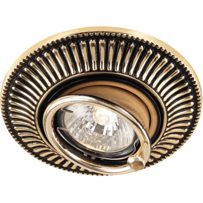 Novotech VINTAGE 369860 Точечный встраиваемый светильникКруглые<br>Декоративный встраиваемый светильник модели Novotech 369860 из серии VINTAGE отличается следующим качеством: Светильник произведен из сплава цинка. Благодаря сравнительно высоким механическим и литейным качествам, изделия, выполненные из сплава цинка, отличаются высокой точностью деталей декора со сложной конфигурацией. Так же он обладает антикоррозийными свойствами.<br><br>Тип лампы: галогенная<br>Тип цоколя: GU5.3 (MR16)<br>MAX мощность ламп, Вт: 50<br>Диаметр, мм мм: 119<br>Диаметр врезного отверстия, мм: 100