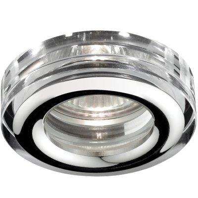 Novotech AQUA 369879 Встраиваемый светильникВ ванную<br>Встраиваемый светильник модели Novotech 369879 из серии AQUA отличается следующим качеством: Влагозащищённый светильник. Корпус светильника – алюминиевое литьё. Это сплав, основными  достоинствами которого являются — устойчивость к практически всем видам негативного воздействия окружающей среды, коррозии, небольшой вес, по сравнению с другими видами металла и   экологическая безопасность материала.  Декоративные плафон произведен из хрусталя. Он обладает высоким показателем плотности, прозрачности и блеска. Благодаря содержанию свинца (не менее 30%) и определённому подбору углов, образуемых гранями, изделия из хрусталя отличаются необыкновенно яркой, многоцветной игрой света, чарующей магией красоты, совершенства и роскоши.<br><br>S освещ. до, м2: 3<br>Тип лампы: галогенная<br>Тип цоколя: GU5.3 (MR16)<br>Количество ламп: 1<br>MAX мощность ламп, Вт: 50<br>Диаметр, мм мм: 80<br>Диаметр врезного отверстия, мм: 60