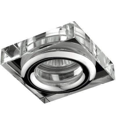 Novotech AQUA 369880 Встраиваемый светильникКвадратные<br>Встраиваемый светильник модели Novotech 369880 из серии AQUA отличается следующим качеством: Влагозащищённый светильник. Корпус светильника – алюминиевое литьё. Это сплав, основными  достоинствами которого являются — устойчивость к практически всем видам негативного воздействия окружающей среды, коррозии, небольшой вес, по сравнению с другими видами металла и   экологическая безопасность материала.  Декоративные плафон произведен из хрусталя. Он обладает высоким показателем плотности, прозрачности и блеска. Благодаря содержанию свинца (не менее 30%) и определённому подбору углов, образуемых гранями, изделия из хрусталя отличаются необыкновенно яркой, многоцветной игрой света, чарующей магией красоты, совершенства и роскоши.<br><br>S освещ. до, м2: 3<br>Тип лампы: галогенная<br>Тип цоколя: GU5.3 (MR16)<br>Количество ламп: 1<br>Ширина, мм: 80<br>MAX мощность ламп, Вт: 50<br>Диаметр врезного отверстия, мм: 60<br>Длина, мм: 80
