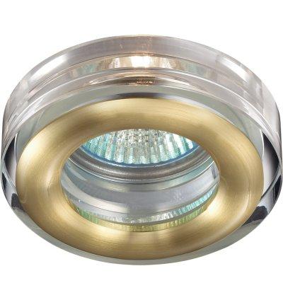 Novotech AQUA 369881 Встраиваемый светильникКруглые<br>Встраиваемый светильник модели Novotech 369881 из серии AQUA отличается следующим качеством: Влагозащищённый светильник. Корпус светильника – алюминиевое литьё. Это сплав, основными  достоинствами которого являются — устойчивость к практически всем видам негативного воздействия окружающей среды, коррозии, небольшой вес, по сравнению с другими видами металла и   экологическая безопасность материала.  Декоративные плафон произведен из хрусталя. Он обладает высоким показателем плотности, прозрачности и блеска. Благодаря содержанию свинца (не менее 30%) и определённому подбору углов, образуемых гранями, изделия из хрусталя отличаются необыкновенно яркой, многоцветной игрой света, чарующей магией красоты, совершенства и роскоши.<br><br>S освещ. до, м2: 3<br>Тип товара: Встраиваемый светильник<br>Тип лампы: галогенная<br>Тип цоколя: GU5.3 (MR16)<br>Количество ламп: 1<br>MAX мощность ламп, Вт: 50<br>Диаметр, мм мм: 80<br>Диаметр врезного отверстия, мм: 60