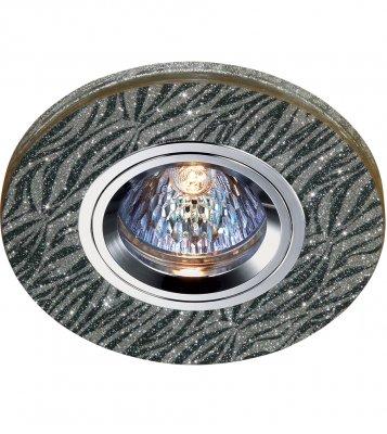 Novotech SHIKKU 369907 Точечный встраиваемый светильникКруглые<br>Декоративный встраиваемый светильник модели Novotech 369907 из серии SHIKKU отличается следующим качеством: Светильника сделан из алюминия. Это лёгкий металл, основными  достоинствами которого являются — устойчивость к практически всем видам негативного воздействия окружающей среды, коррозии, небольшой вес, по сравнению с другими видами металла и   экологическая безопасность материала.  Декоративные отделка произведена из хрусталя. Он обладает высоким показателем плотности, прозрачности и блеска. Благодаря содержанию свинца (не менее 30%). Огранка хрусталя, подобно огранке драгоценных камней, позволяет в полной мере проявить свойства, обусловленные большим показателем преломления и дисперсией.<br><br>Тип лампы: галогенная<br>Тип цоколя: GU5.3 (MR16)<br>Диаметр, мм мм: 100<br>Диаметр врезного отверстия, мм: 60<br>MAX мощность ламп, Вт: 50