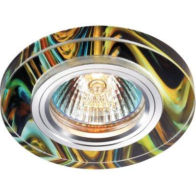 Novotech RAINBOW 369913 Точечный встраиваемый светильникТочечные светильники круглые<br>Декоративный встраиваемый светильник модели Novotech 369913 из серии RAINBOW отличается следующим качеством: Основание светильника – алюминий. Это лёгкий металл, основными  достоинствами которого являются — устойчивость к практически всем видам негативного воздействия окружающей среды, коррозии, небольшой вес, по сравнению с другими видами металла и   экологическая безопасность материала.  Декоративный красочный плафон произведен из стекла. Стекло экологично,  не тускнеет и не меняет своего оттенка со временем, не покрывается некрасивым налетом и легко выдерживает перепады температур.<br><br>S освещ. до, м2: 3<br>Тип лампы: галогенная<br>Тип цоколя: GU5.3 (MR16)<br>Количество ламп: 1<br>Диаметр, мм мм: 90<br>Диаметр врезного отверстия, мм: 65<br>MAX мощность ламп, Вт: 50