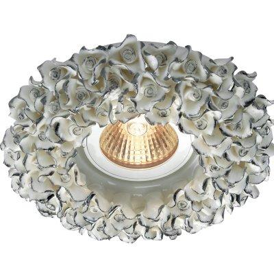 Novotech FARFOR 369950 Встраиваемый светильникКруглые<br>Декоративный встраиваемый светильник модели Novotech 369950 из серии FARFOR отличается следующим качеством: Светильник сделан из фарфора. Основным его преимуществом является то, что  со временем он не теряет таких своих качеств, как крепость, плотность, прочность, блеск и полупрозрачность. Не подвластен фарфор и коррозии.<br><br>S освещ. до, м2: 3<br>Тип лампы: галогенная<br>Тип цоколя: GU5.3 (MR16)<br>Количество ламп: 1<br>MAX мощность ламп, Вт: 50<br>Диаметр, мм мм: 130<br>Диаметр врезного отверстия, мм: 65