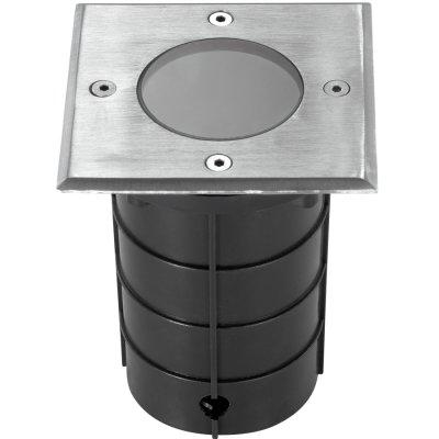 Novotech GROUND 369952 СветильникГрунтовые<br>Ландшафтный светильник модели Novotech 369952 из серии GROUND отличается следующим качеством: Корпус светильника состоит из алюминия. Это металл, основными  достоинствами которого являются — устойчивость к практически всем видам негативного воздействия окружающей среды, коррозии, небольшой вес, по сравнению с другими видами металла и   экологическая безопасность материала.  Рассеиватель сделан из закаленного стекла. Оно выдерживает температуру от -70 до 250С., а так же в 5-6 раз прочнее обычного. Стакан – пластик. Этот материал имеет высокие эксплуатационные показатели, что объясняется его повышенной стойкостью к механическим повреждениям и защищенностью от факторов внешней среды.  Предназначен для наружного освещения в тяжелых условиях эксплуатации (высокое содержание пыли, воды; наличие вибрационных ударных нагрузок). Устойчив к высоким механическим воздействиям (например, проезд автомобилей). Материалы, из которых произведён светильник, и его конструкция обеспечивают высокую прочность и защиту от проникновения пыли и влаги.<br><br>Тип лампы: галогенная / LED-светодиодная<br>Тип цоколя: MR16<br>Ширина, мм: 110<br>Длина, мм: 110<br>Высота, мм: 5<br>MAX мощность ламп, Вт: 50