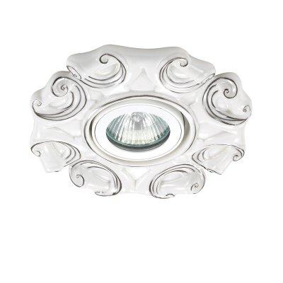 Novotech FARFOR 370041 Встраиваемый светильникКруглые<br>Декоративный встраиваемый светильник модели Novotech 370041 из серии FARFOR отличается следующим качеством: Светильник сделан из фарфора. Основным его преимуществом является то, что  со временем он не теряет таких своих качеств, как крепость, плотность, прочность, блеск и полупрозрачность. Не подвластен фарфор и коррозии.<br><br>S освещ. до, м2: 3<br>Тип лампы: галогенная/LED<br>Тип цоколя: GU5.3 (MR16)<br>Количество ламп: 1<br>MAX мощность ламп, Вт: 50<br>Диаметр, мм мм: 140<br>Диаметр врезного отверстия, мм: 70<br>Высота, мм: 20<br>Цвет арматуры: серебристый