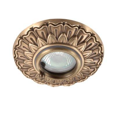 Novotech DAISY 370053 Встраиваемый светильникКруглые<br>Встраиваемый светильник модели Novotech 370053 из серии DAISY отличается следующим качеством: Светильник сделан из меди. Такой светильник  придаст класс и элегантность вашему дому, будет выглядеть необычайно эффектно и модно, а богатое свечение меди добавит в интерьер ощущение тепла и уюта. С давних пор изделия из меди используются для украшения жилища, так как медь высоко ценилась за свои уникальные качества. В наше время они вновь обретают популярность. Биоэнергетики и медики утверждают, что медные изделия способны очистить окружающее пространство и даже оздоровить человека.<br><br>S освещ. до, м2: 3<br>Тип лампы: галогенная/LED<br>Тип цоколя: GU5.3 (MR16)<br>Количество ламп: 1<br>MAX мощность ламп, Вт: 50<br>Диаметр, мм мм: 110<br>Диаметр врезного отверстия, мм: 70<br>Высота, мм: 10<br>Цвет арматуры: бронзовый