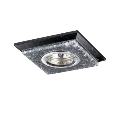 Novotech FLOE 370148 Встраиваемый светильникКвадратные<br>Декоративный встраиваемый светильник модели Novotech 370148 из серии FLOE отличается следующим качеством: Корпус светильника – алюминиевое литьё. Это лёгкий серебристо-белый металл, основными  достоинствами которого являются — устойчивость к практически всем видам негативного воздействия окружающей среды, коррозии, небольшой вес, по сравнению с другими видами металла и   экологическая безопасность материала.  Украшение светильника выпалненно из хрусталя. Он обладает высоким показателем плотности, прозрачности и блеска. Благодаря содержанию свинца (не менее 30%) и определённому подбору углов, образуемых гранями, изделия из хрусталя отличаются необыкновенно яркой, многоцветной игрой света, чарующей магией красоты, совершенства и роскоши.<br><br>S освещ. до, м2: 3<br>Тип лампы: галогенная/LED<br>Тип цоколя: GU5.3 (MR16)<br>Цвет арматуры: серебристый<br>Количество ламп: 1<br>Ширина, мм: 110<br>Диаметр врезного отверстия, мм: 55<br>Длина, мм: 110<br>Высота, мм: 20<br>MAX мощность ламп, Вт: 50