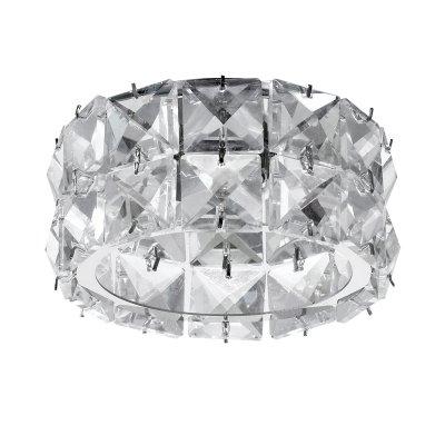 Novotech NEVIERA 370164 Встраиваемый светильникХрустальные<br>Декоративный встраиваемый светильник модели Novotech 370164 из серии NEVIERA отличается следующим качеством: Светильник сделан из стали. Главным преимуществом которого является  большой период эксплуатации.  Сталь по праву можно считать вечным материалом.  Так  же преимуществами являются устойчивость к химическим, атмосферным и механическим воздействиям и эстетичный внешний вид. Благодаря зеркальной полировке,  обеспечивается высокая стойкость металла к коррозии. Декоративные каменья произведены из хрусталя. Он обладает высоким показателем плотности, прозрачности и блеска. Благодаря содержанию свинца (не менее 30%). Огранка хрусталя, подобно огранке драгоценных камней, позволяет в полной мере проявить свойства, обусловленные большим показателем преломления и дисперсией.<br><br>S освещ. до, м2: 2<br>Тип лампы: галогенная<br>Тип цоколя: G9<br>Количество ламп: 1<br>MAX мощность ламп, Вт: 40<br>Диаметр, мм мм: 93<br>Диаметр врезного отверстия, мм: 60<br>Высота, мм: 75<br>Цвет арматуры: серебристый