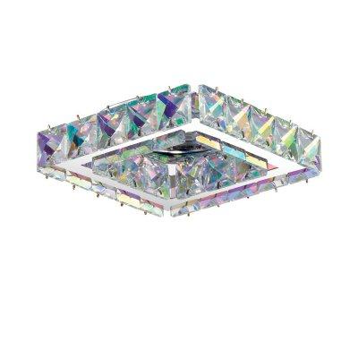 Novotech NEVIERA 370171 Встраиваемый светильникВстраиваемые хрустальные светильники<br>Декоративный встраиваемый светильник модели Novotech 370171 из серии NEVIERA отличается следующим качеством: Светильник сделан из стали. Главным преимуществом которого является  большой период эксплуатации.  Сталь по праву можно считать вечным материалом.  Так  же преимуществами являются устойчивость к химическим, атмосферным и механическим воздействиям и эстетичный внешний вид. Благодаря зеркальной полировке,  обеспечивается высокая стойкость металла к коррозии. Декоративные каменья произведены из хрусталя. Он обладает высоким показателем плотности, прозрачности и блеска. Благодаря содержанию свинца (не менее 30%). Огранка хрусталя, подобно огранке драгоценных камней, позволяет в полной мере проявить свойства, обусловленные большим показателем преломления и дисперсией.<br><br>S освещ. до, м2: 3<br>Тип лампы: галогенная/LED<br>Тип цоколя: GU5.3 (MR16)<br>Цвет арматуры: серебристый<br>Количество ламп: 1<br>Ширина, мм: 107<br>Диаметр врезного отверстия, мм: 60<br>Длина, мм: 107<br>Высота, мм: 50<br>MAX мощность ламп, Вт: 50