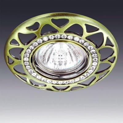 Светильник встраиваемый Novotech 370233 PEONYКруглые<br><br><br>Тип товара: Светильник встраиваемый<br>Тип лампы: галогенная/LED<br>Тип цоколя: GX5.3<br>MAX мощность ламп, Вт: 50<br>Диаметр, мм мм: 110<br>Диаметр врезного отверстия, мм: 75<br>Высота, мм: 27<br>Цвет арматуры: бронзовый