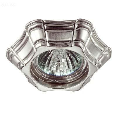 Novotech FORZA 370253 Светильник встраиваемыйДекоративные<br>Стандартный встраиваемый неповоротный светильник модели Novotech 370253 из серии FORZA отличается следующим качеством: Светильник произведен  из сплава цинка. Благодаря сравнительно высоким механическим и литейным качествам, изделия, выполненные из сплава цинка, отличаются высокой точностью деталей декора со сложной конфигурацией. Так же он обладает антикоррозийными свойствами.<br><br>Тип лампы: галогенная/LED<br>Тип цоколя: gu5.3<br>Количество ламп: 1<br>Ширина, мм: 40<br>MAX мощность ламп, Вт: 50<br>Диаметр, мм мм: 100<br>Диаметр врезного отверстия, мм: 60<br>Цвет арматуры: серебристый