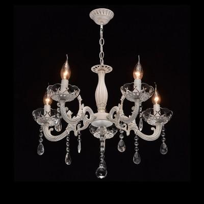 DeMarkt Аврора 371012005 ЛюстраПодвесные<br><br><br>S освещ. до, м2: 15<br>Тип лампы: Накаливания / энергосбережения / светодиодная<br>Тип цоколя: E14<br>Количество ламп: 5<br>Диаметр, мм мм: 550<br>Высота, мм: 650 - 800<br>MAX мощность ламп, Вт: 60
