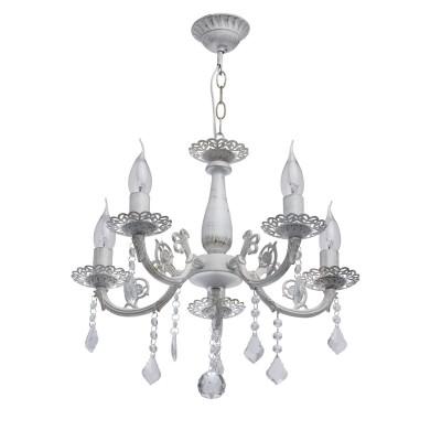 DeMarkt Аврора 371012105 ЛюстраПодвесные<br><br><br>S освещ. до, м2: 15<br>Тип лампы: Накаливания / энергосбережения / светодиодная<br>Тип цоколя: E14<br>Количество ламп: 5<br>MAX мощность ламп, Вт: 60<br>Диаметр, мм мм: 460<br>Высота, мм: 480 - 620