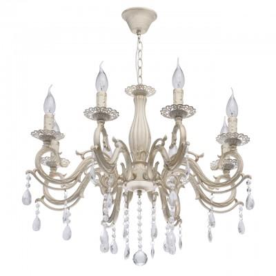 DeMarkt Аврора 371012208 ЛюстраПодвесные<br><br><br>Установка на натяжной потолок: Да<br>S освещ. до, м2: 24<br>Тип лампы: Накаливания / энергосбережения / светодиодная<br>Тип цоколя: E14<br>Количество ламп: 8<br>Диаметр, мм мм: 680<br>Высота, мм: 650 - 800<br>MAX мощность ламп, Вт: 60