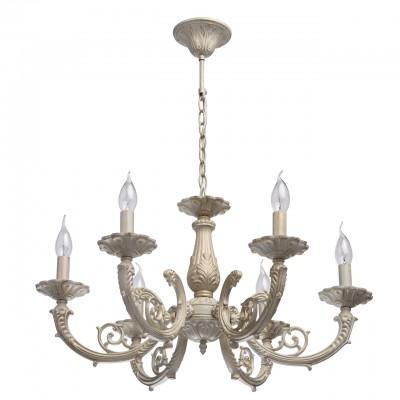 371013206 Mw light СветильникПодвесные<br><br><br>Установка на натяжной потолок: Да<br>S освещ. до, м2: 12<br>Тип лампы: Накаливания / энергосбережения / светодиодная<br>Тип цоколя: E14<br>Количество ламп: 6<br>MAX мощность ламп, Вт: 40<br>Диаметр, мм мм: 650<br>Высота, мм: 530 - 770