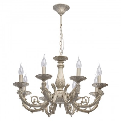 371013308 Mw light Светильниклюстры подвесные классические<br><br><br>Установка на натяжной потолок: Да<br>S освещ. до, м2: 16<br>Тип лампы: Накаливания / энергосбережения / светодиодная<br>Тип цоколя: E14<br>Количество ламп: 8<br>Диаметр, мм мм: 680<br>Высота, мм: 500 - 750<br>MAX мощность ламп, Вт: 40