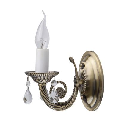 Mw light Аврора 371022901 Светильник браКлассические<br><br><br>Тип лампы: Накаливания / энергосбережения / светодиодная<br>Тип цоколя: E14<br>Количество ламп: 1<br>Ширина, мм: 110<br>Расстояние от стены, мм: 200<br>Высота, мм: 160<br>MAX мощность ламп, Вт: 60