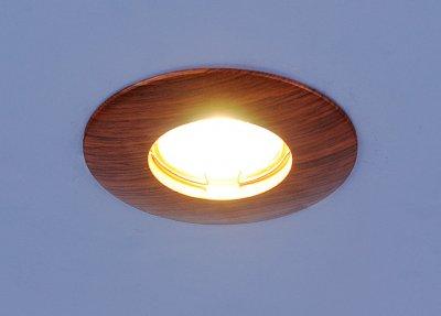 Светильник Электростандарт 3712 MR16 дубдеревянные встраиваемые светильники<br>