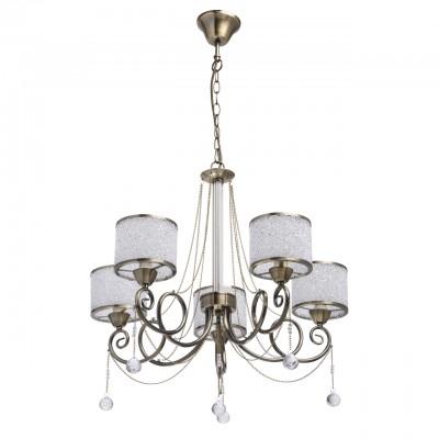Mw light 372013405 СветильникПодвесные<br><br><br>Установка на натяжной потолок: Да<br>S освещ. до, м2: 10<br>Тип лампы: Накаливания / энергосбережения / светодиодная<br>Тип цоколя: E14<br>Количество ламп: 5<br>Диаметр, мм мм: 600<br>Высота, мм: 740 - 1000<br>MAX мощность ламп, Вт: 40