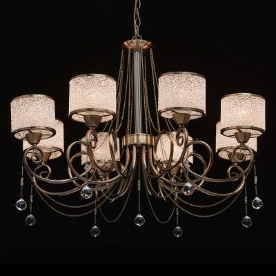 Mw light 372013508 СветильникПодвесные<br><br><br>Установка на натяжной потолок: Да<br>S освещ. до, м2: 16<br>Тип лампы: Накаливания / энергосбережения / светодиодная<br>Тип цоколя: E14<br>Цвет арматуры: бронзовый<br>Количество ламп: 8<br>Диаметр, мм мм: 760<br>Высота, мм: 750 - 1000<br>MAX мощность ламп, Вт: 40
