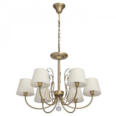 Светильник Mw-light 372013606Подвесные<br><br><br>S освещ. до, м2: 12<br>Тип лампы: накаливания / энергосбережения / LED-светодиодная<br>Тип цоколя: E14<br>Количество ламп: 6<br>Диаметр, мм мм: 700<br>Высота, мм: 950